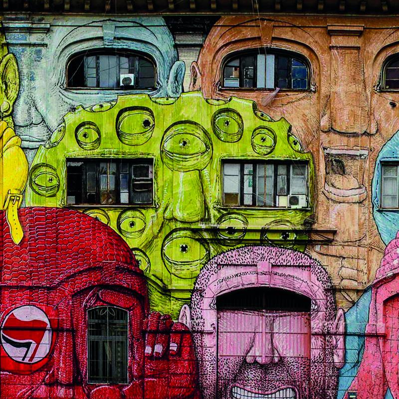 Street art in the Ostiense District: Blu