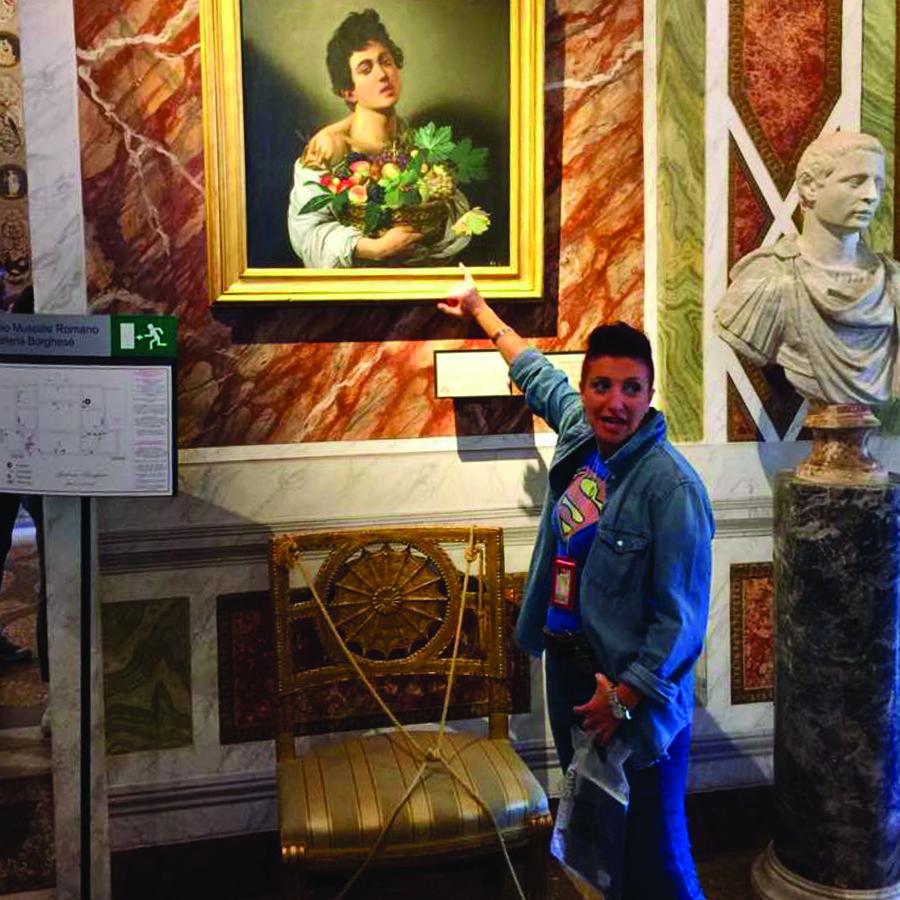 Silvia at Borghese Gallery