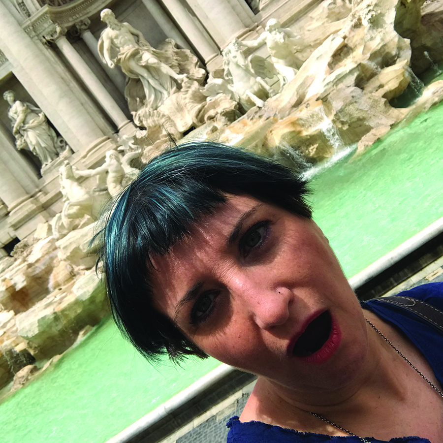 Silvia at the Trevi Fountain