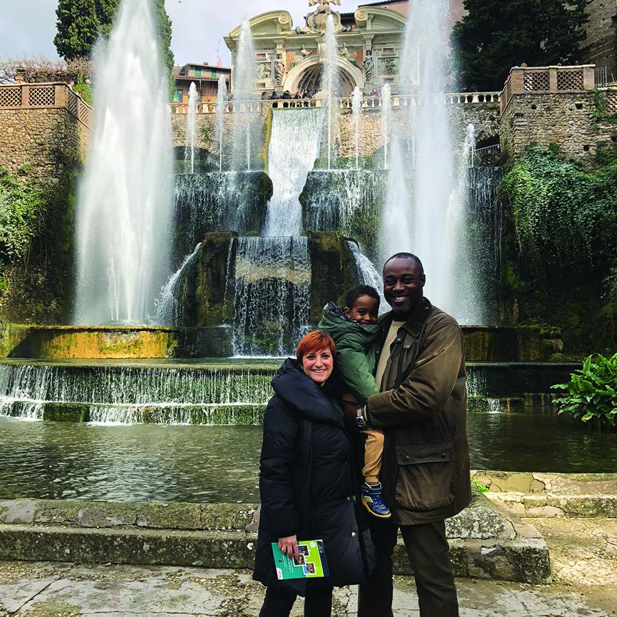 The Guiding Family in Villa d'Este