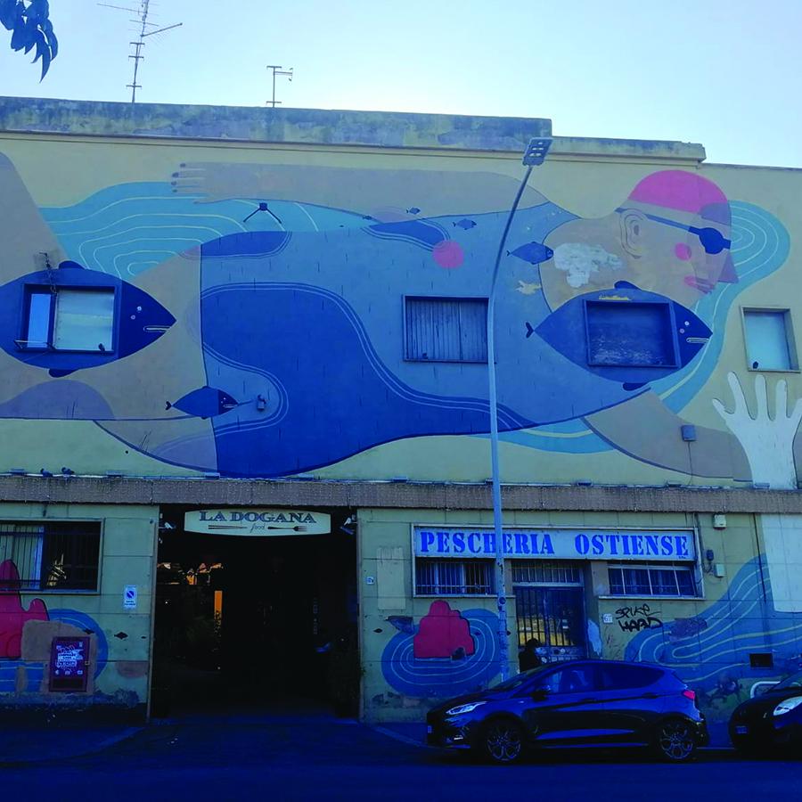 Street art in the Ostiense District: Iacurci