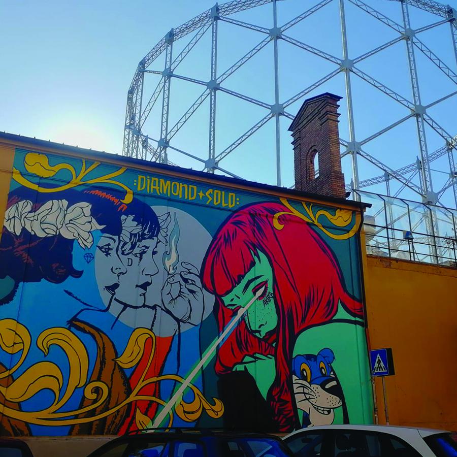 Street art in the Ostiense District: Solo&Diamond