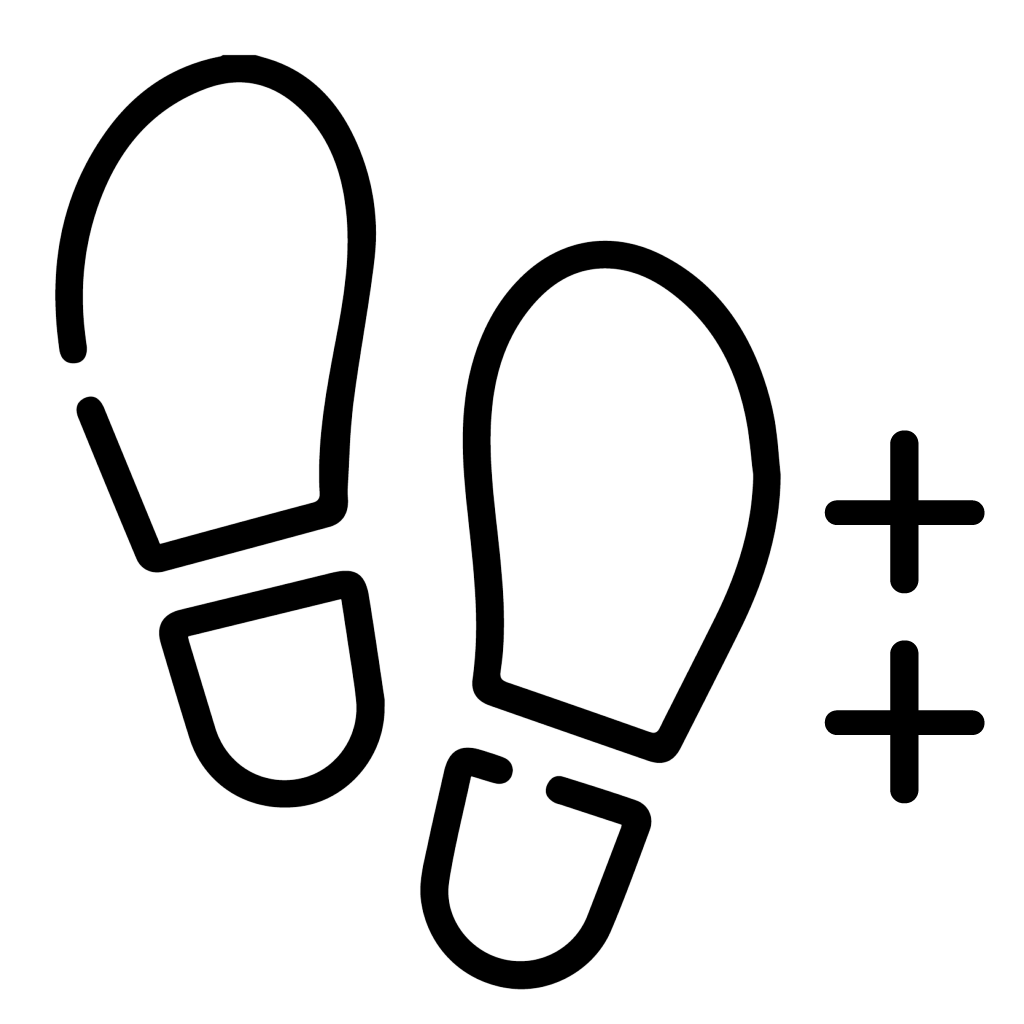 theguidingfalimy walking medium icon