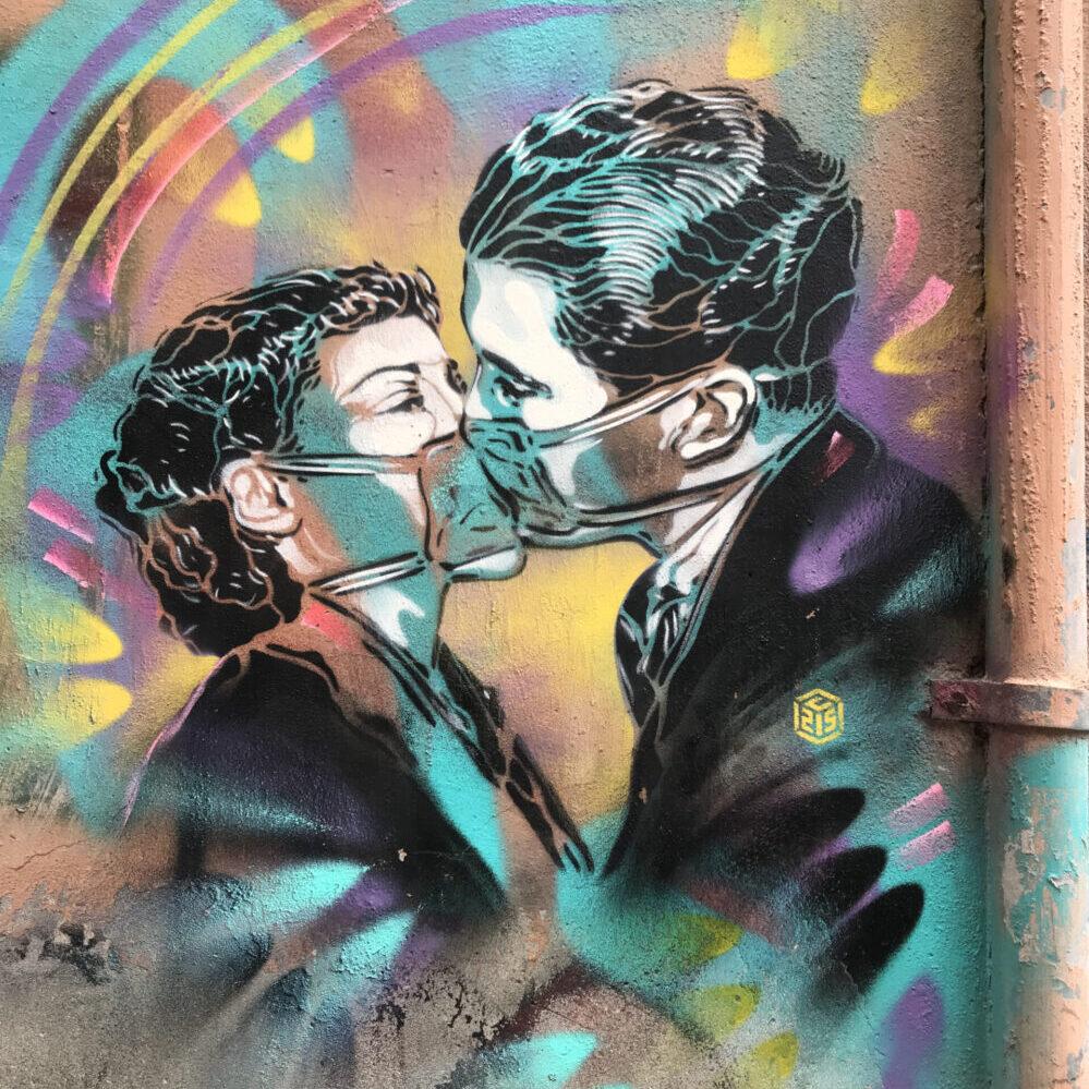 Street art in Trastevere: C215